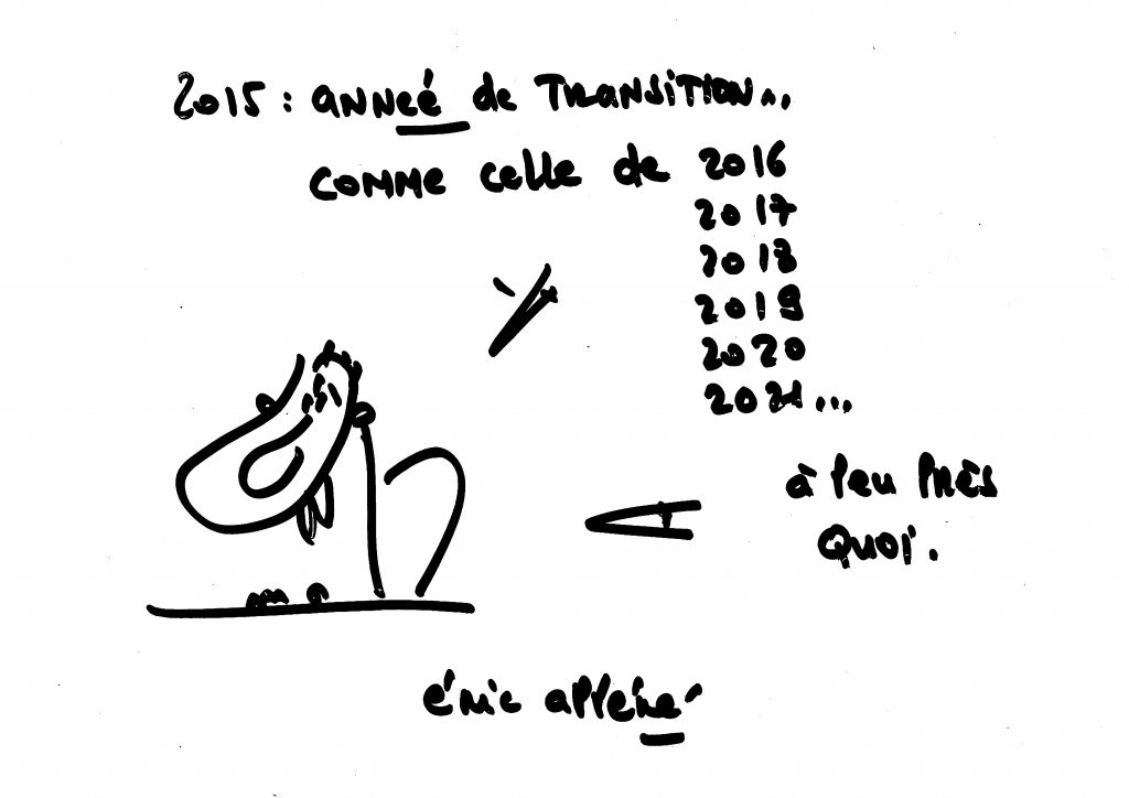2015 année de transition...